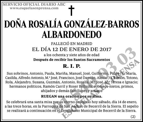 Rosalia González-Barros Albardonedo
